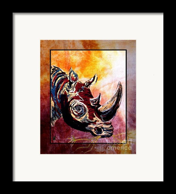 Save The Rhino Framed Print By Sylvie Heasman