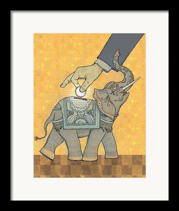 Savings Framed Print By Dennis Wunsch