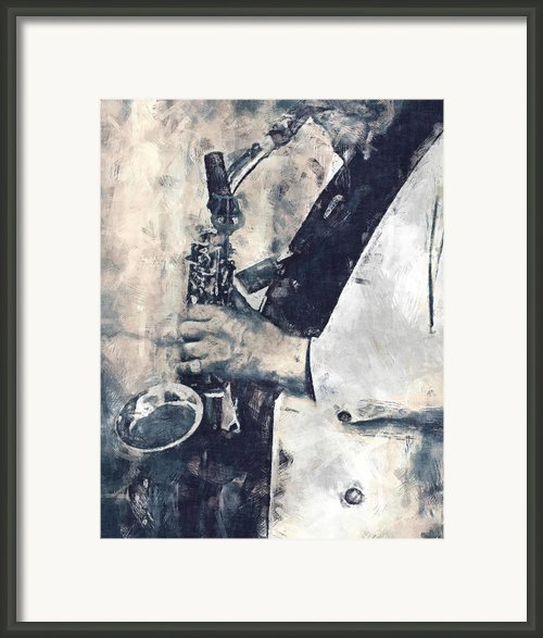 Saxophone Player Framed Print By Philip Sweeck