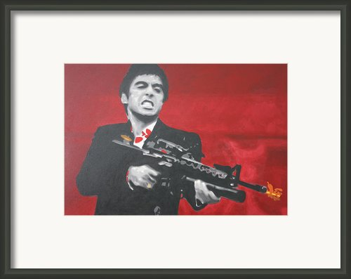 Say Hello To My Little Friend 2013 Framed Print By Luis Ludzska