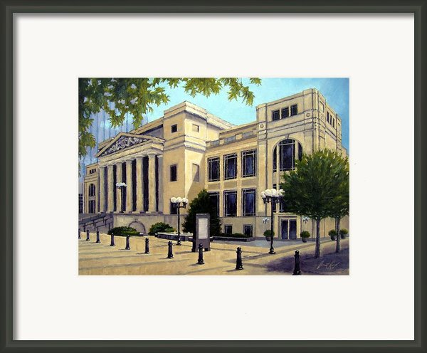 Schermerhorn Symphony Center Framed Print By Janet King