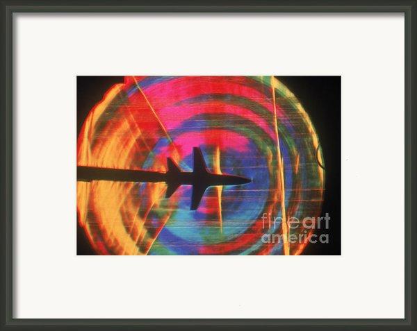 Schlieren Image Of Aircraft Framed Print By Garry Settles