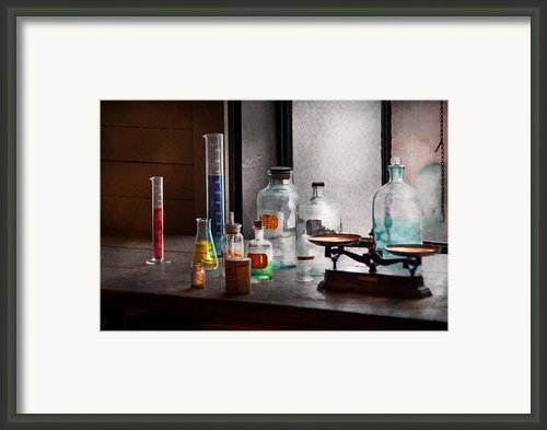 Science - Chemist - Chemistry Equipment  Framed Print By Mike Savad