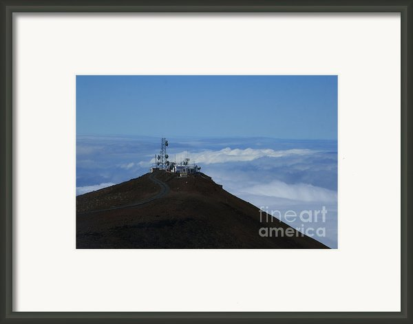 Science City Haleakala Framed Print By Sharon Mau