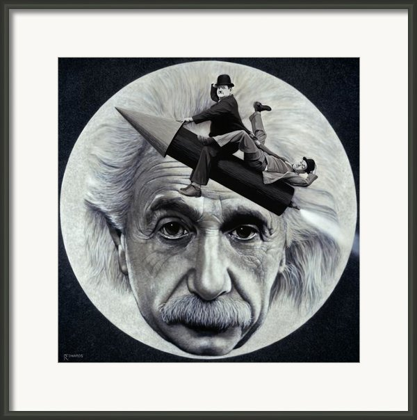Scientific Comedy Framed Print By Ross Edwards