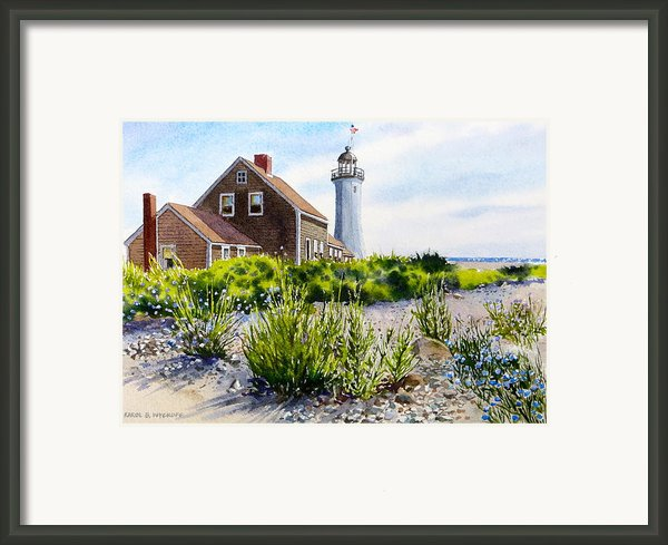 Scituate Light By Day Framed Print By Karol Wyckoff