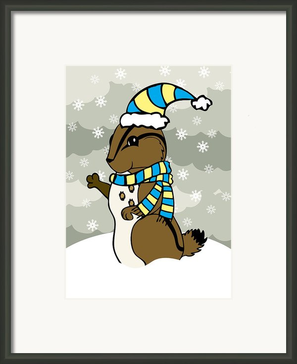 Scoot Winter Framed Print By Christy Beckwith