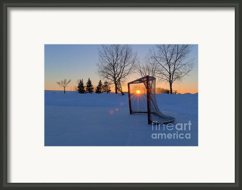 Scoring The Sunset Framed Print By Darcy Michaelchuk