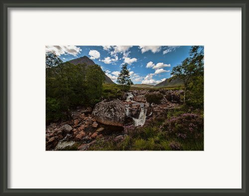 Scottish Scenery Glencoe  Framed Print By Walter Hampson