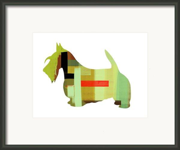 Scottish Terrier Framed Print By Naxart Studio