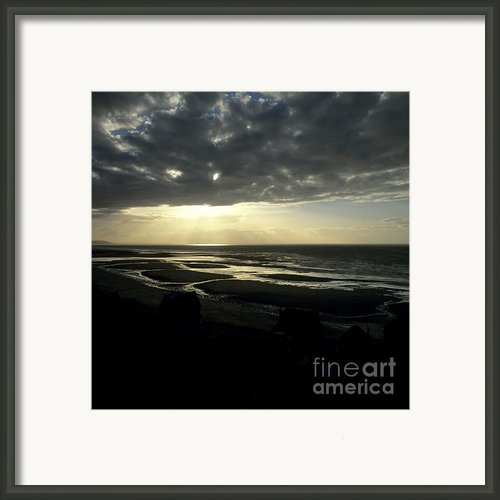 Sea And Stormy Sky Framed Print By Bernard Jaubert