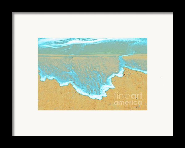Seafoam Abstract Framed Print By Cindy Lee Longhini