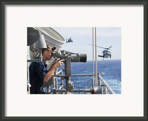 Seaman Apprentice Stands Watch Aboard Framed Print By Stocktrek Images