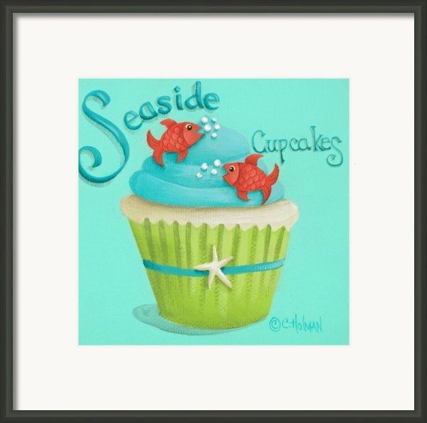 Seaside Cupcakes Framed Print By Catherine Holman