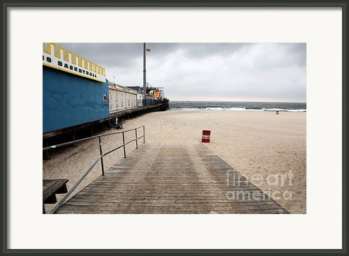 Seaside Heights Beach Framed Print By John Rizzuto