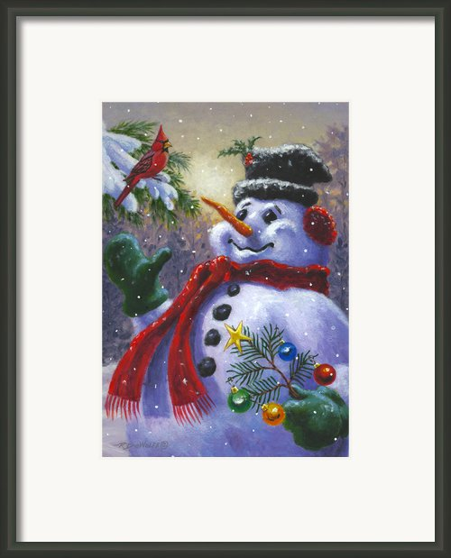 Seasons Greetings Framed Print By Richard De Wolfe