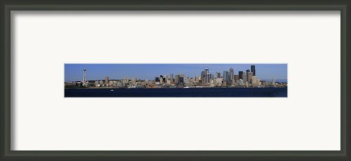 Seattle Panoramic Framed Print By Adam Romanowicz