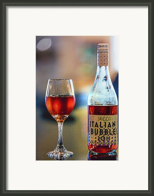 Secco Italian Bubbles Framed Print By Bill Tiepelman