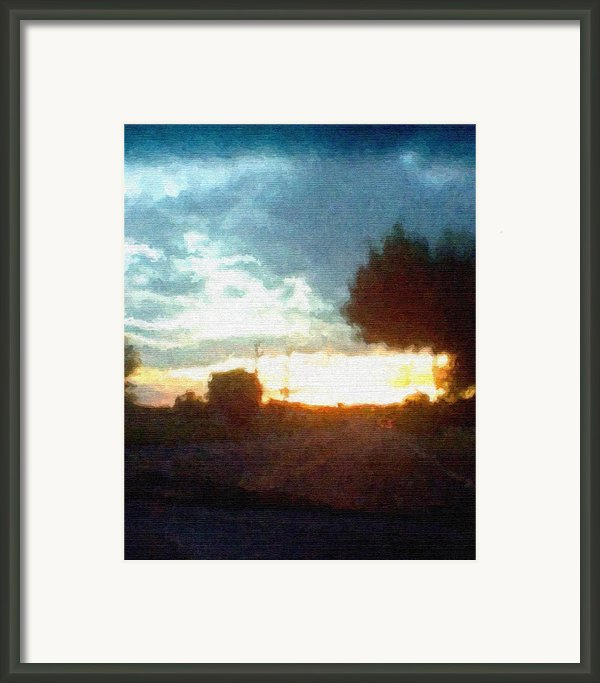 Second Sunset Framed Print By Pharris Art