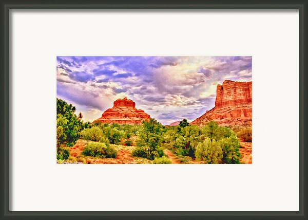 Sedona Arizona Bell Rock Vortex Framed Print By Nadine And Bob Johnston