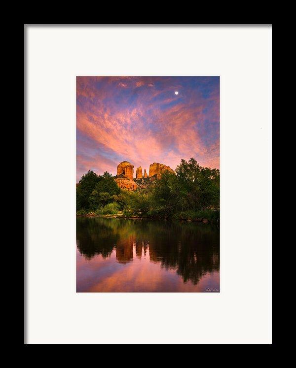 Sedona Moonrise Framed Print By Adam  Schallau