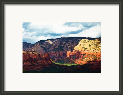 Sedona Valley  Framed Print By Gilbert Artiaga