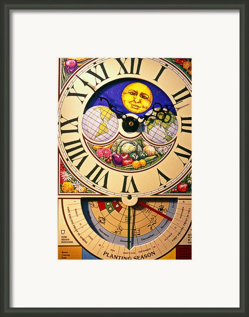 Seed Planting Clock Framed Print By Garry Gay