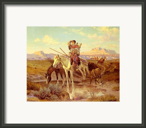 Seeking New Camping Ground Framed Print By Olaf Seltzer