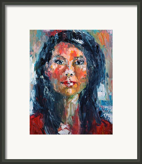 Self Portrait 2013 - 4 Framed Print By Becky Kim
