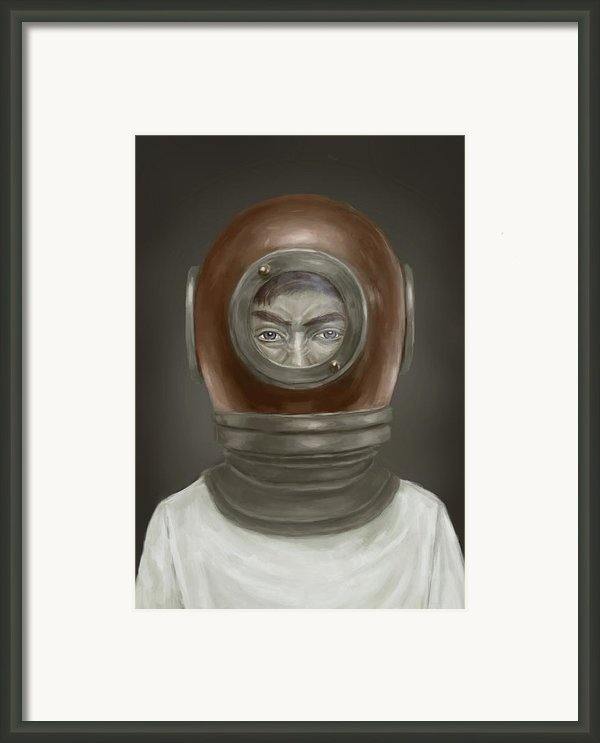 Self Portrait Framed Print By Balazs Solti