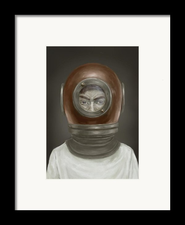 Self Portrait Framed Print By Balazs Solti