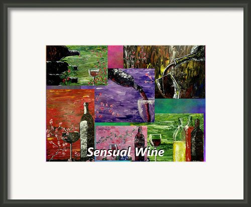 Sensual Wine Collage Framed Print By Mark Moore