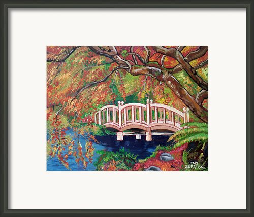 September Bridge Framed Print By John Keaton