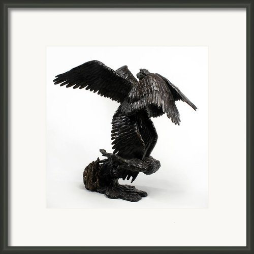 Seraph Angel A Religious Bronze Sculpture By Adam Long Framed Print By Adam Long