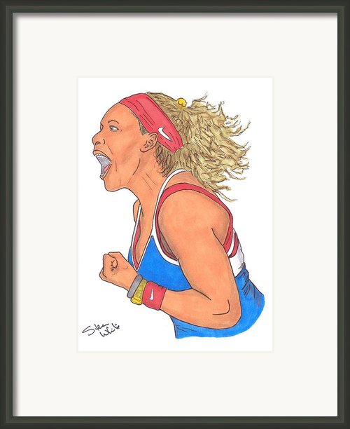 Serena Williams Framed Print By Steven White