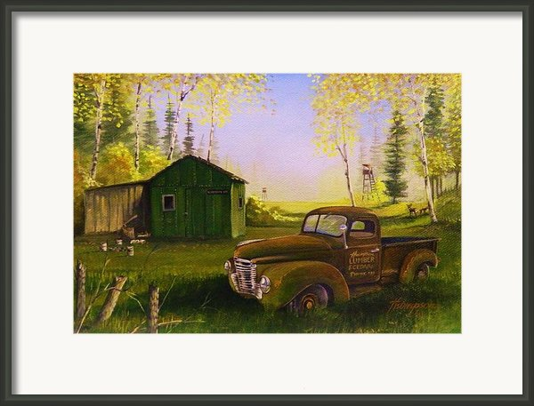 Serenity One O One Framed Print By Whitey Thompson