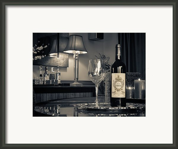 Service For One Framed Print By Dennis James