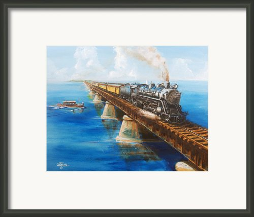 Seven Mile Bridge Framed Print By Christopher Jenkins