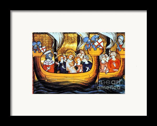 Seventh Crusade 13th Century Framed Print By Photo Researchers