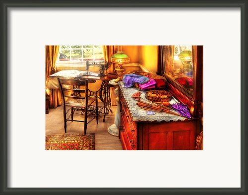 Sewing Machine  - The Sewing Room Framed Print By Mike Savad