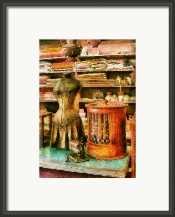 Sewing - Supplies For The Seamstress Framed Print By Mike Savad
