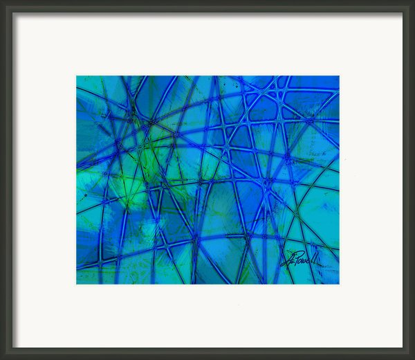 Shades Of Blue   Framed Print By Ann Powell