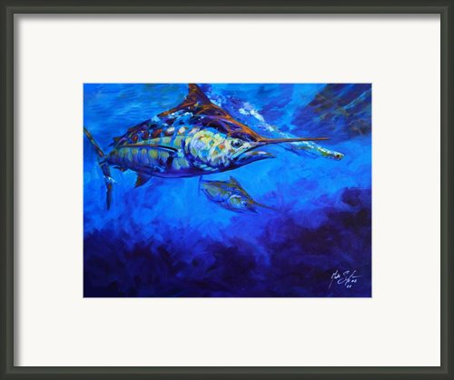 Shades Of Blue Framed Print By Mike Savlen