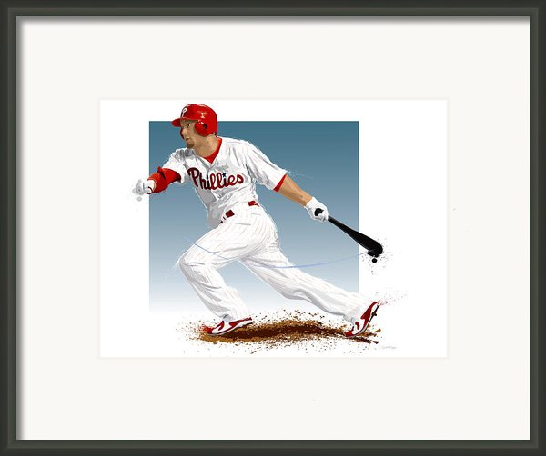Shane Victorino Framed Print By Scott Weigner