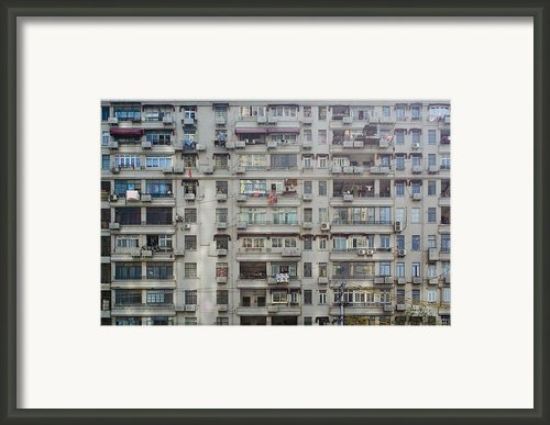 Shanghai Homes Framed Print By Andre Distel