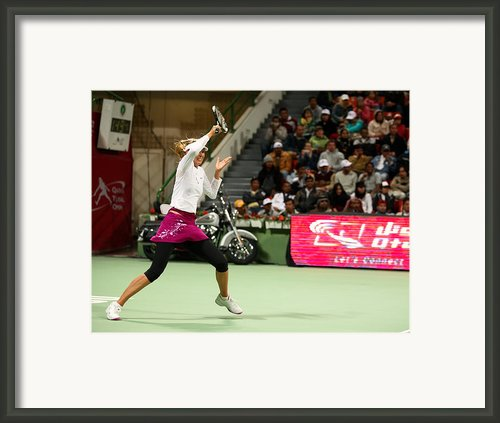 Sharapova At Qatar Open Framed Print By Paul Cowan