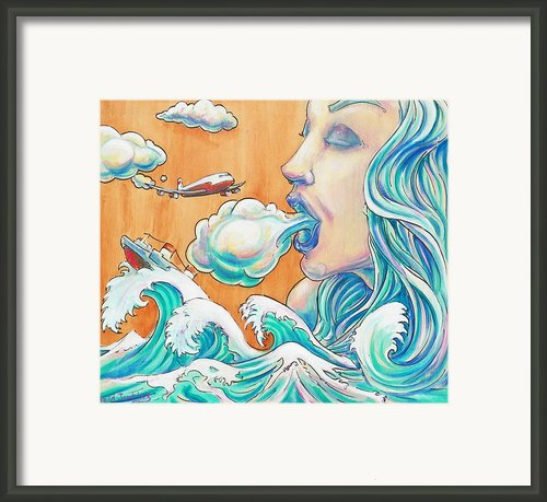 She Blows Framed Print By Reid Jenkins