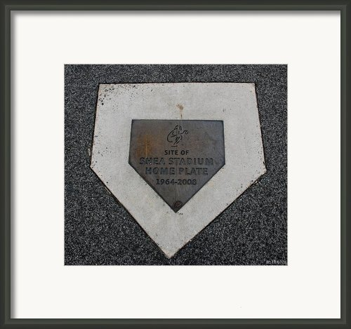 Shea Stadium Home Plate Framed Print By Rob Hans