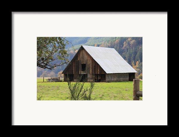 Sheep Barn Framed Print By Katie Wing Vigil