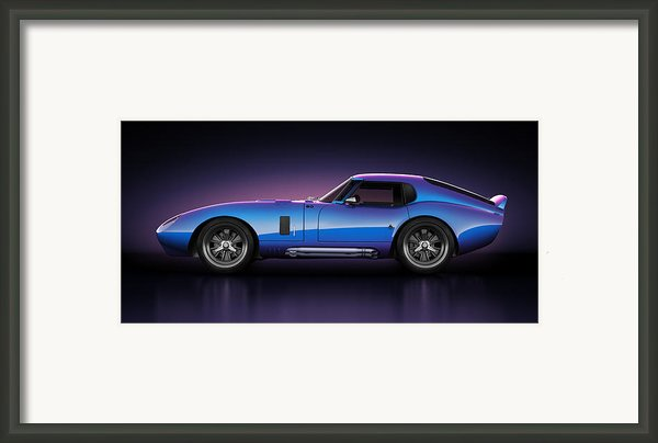 Shelby Daytona - Velocity Framed Print By Marc Orphanos